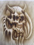 Airbrushed skull
