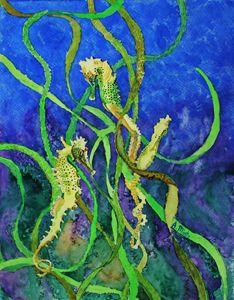 Seahorses & Seaweed I
