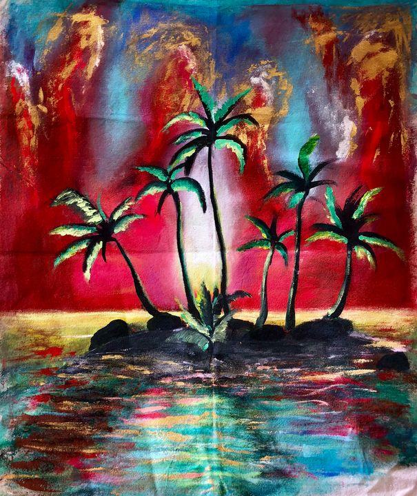 Palm trees - Shades of grey