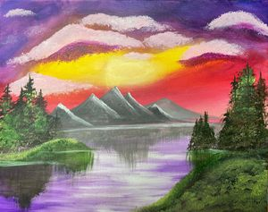 Mountains on Lake