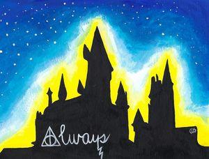 Hogwarts with a Blue Sky