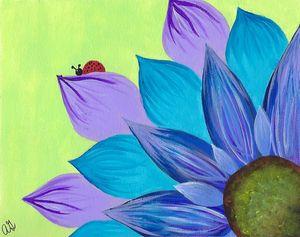 Blue Hue Sunflower