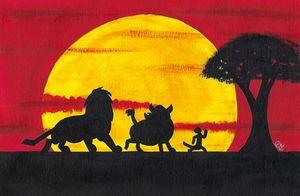Lion King's Simba, Pumba and Timon