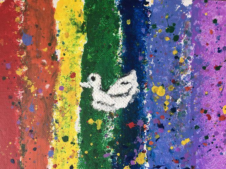 Peaceful Dove with Splatters - Amanda Castillo Art
