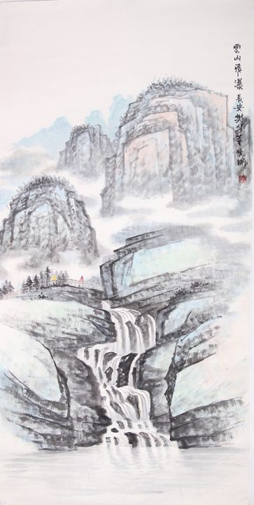waterfall 2 - Chinese Paint