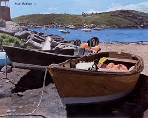 Boats Ashore on Monhegan Island