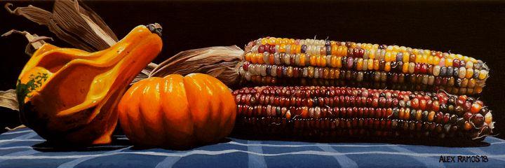 Gourd, Pumpkin, and Indian Corn - Alex Ramos