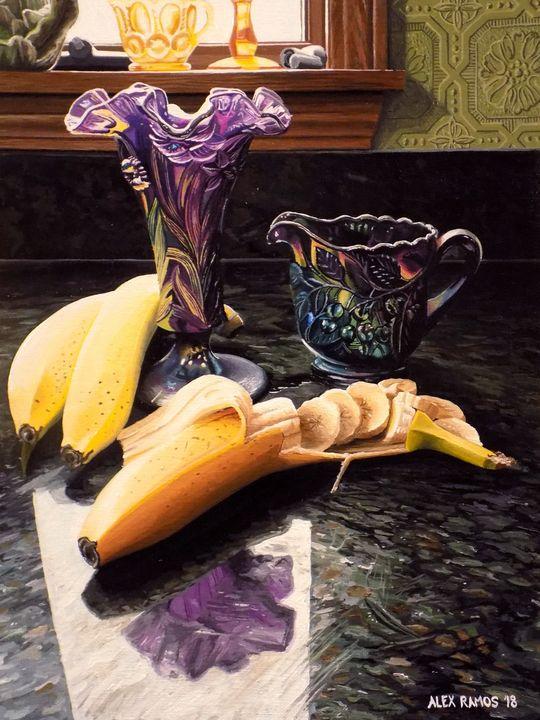 Bananas and Iridescent Glass - Alex Ramos