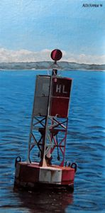 Red Lighted Buoy