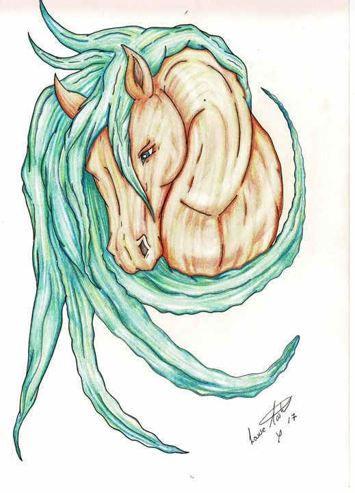 Sandy Stallion - Orcaeyes Artwork & Woodcraft