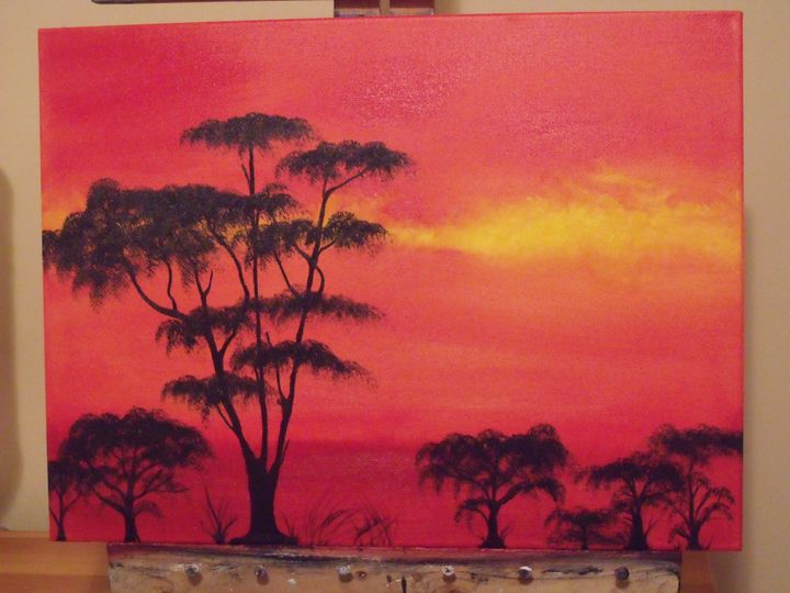 The Light of Africa - Original Oils By Lani