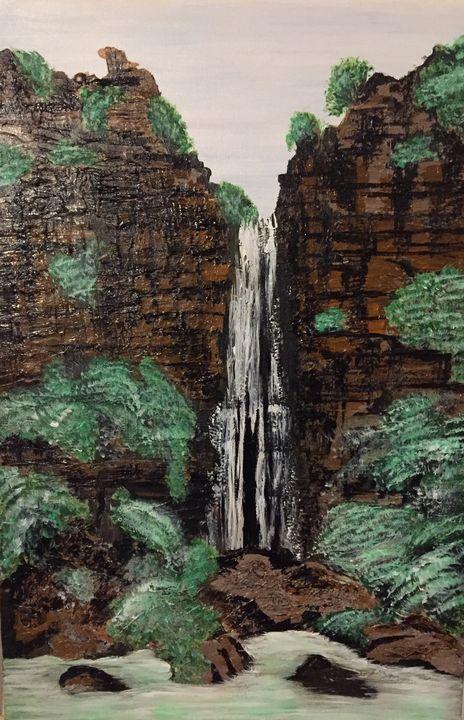 Cascading Waterfall - Creativekookie