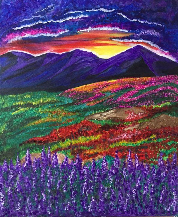 Lavender Mountain - Creativekookie