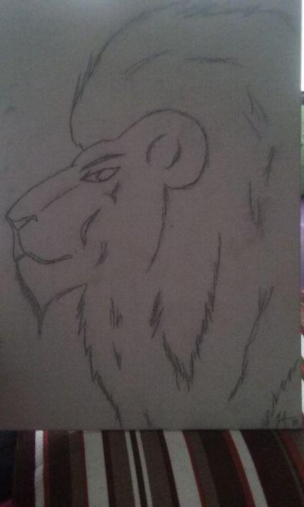Lion free-hand -  Jojoalcindor23