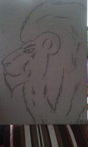 Lion free-hand