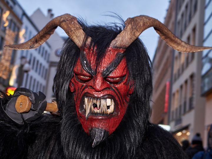 Scary red devil krampus - Christian Mueller