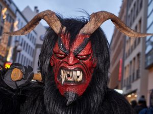 Scary red devil krampus