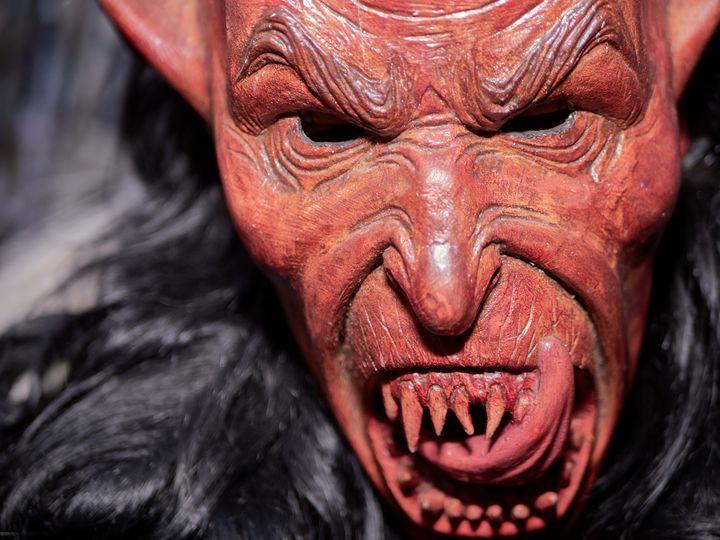 Red Krampus Mask - Christian Mueller