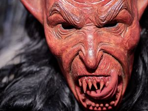 Red Krampus Mask