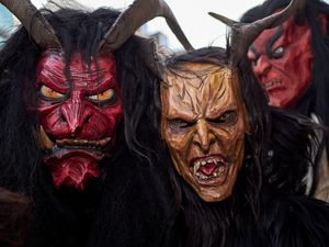 Three Krampus in Group