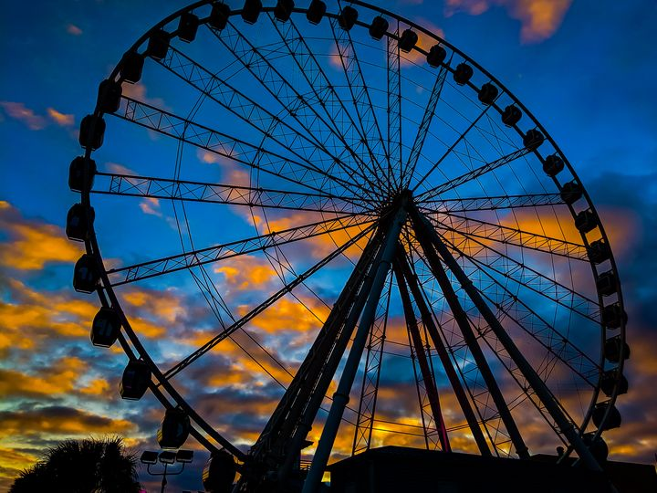 Ferris wheel sunset - Billy Douglas Images