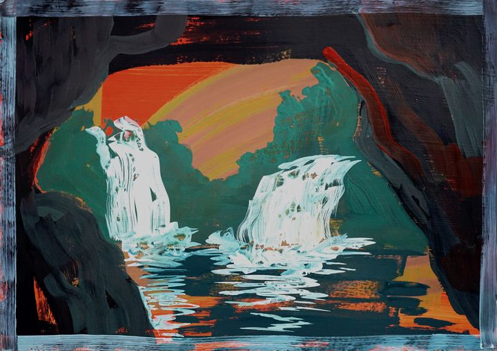 Fall Seen From Inside A Cave No.4 - Yenny Kimna