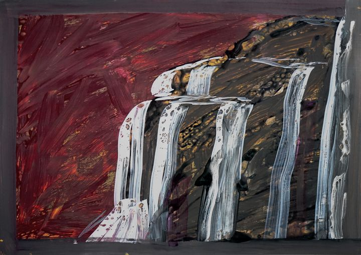 Falls on Cliff - Yenny Kimna