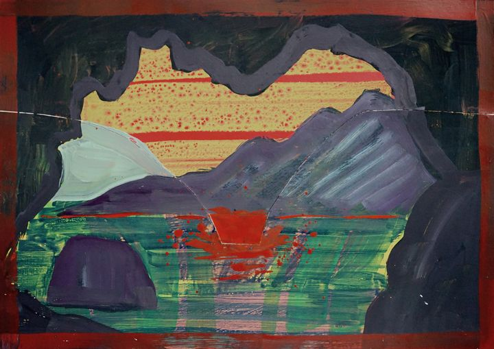 Fall Seen From Inside A Cave No.6 - Yenny Kimna