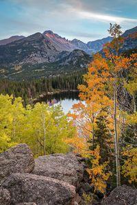 Bear Lake Autumn Sunset Colorado