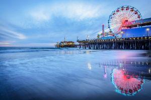 Santa Monica Pier Sunset California
