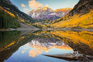 Maroon Bells Autumn Sunrise Colorado - Christopher Paul