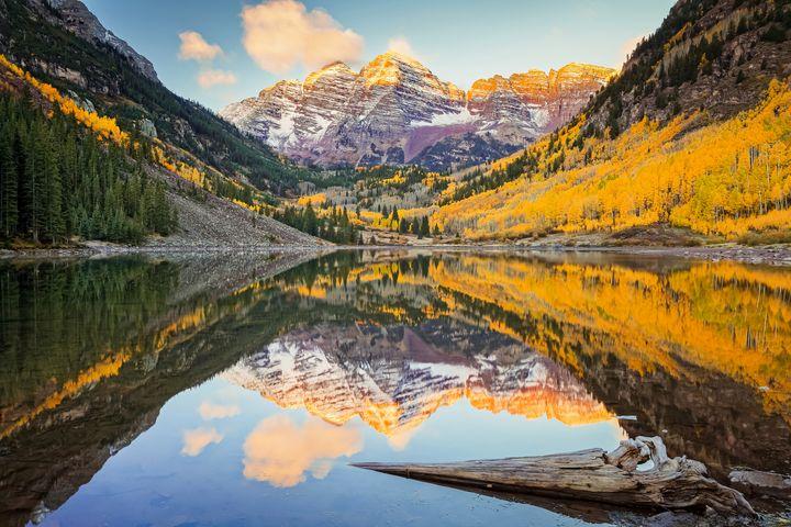 Maroon Bells Autumn Sunrise Colorado - Christopher Paul