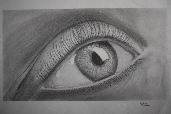 Eye drawing - Ain arts & craft