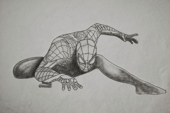 Spiderman pencil drawing - Ain arts & craft