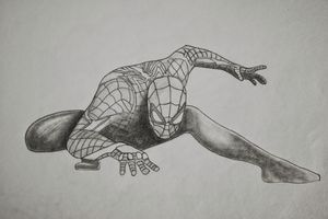 Spiderman pencil drawing