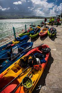Kayaks at Portmeirion