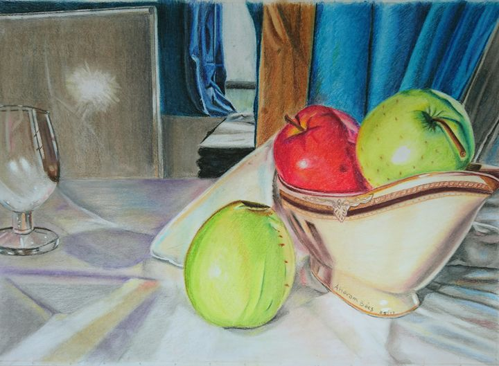 Pottery with Apple - Bienarte
