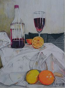 Red Wine & Half Orange