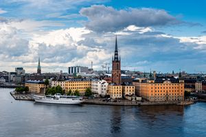 Panoramic view of Stockholm