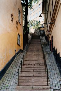 Picturesque stairs in Stockholm