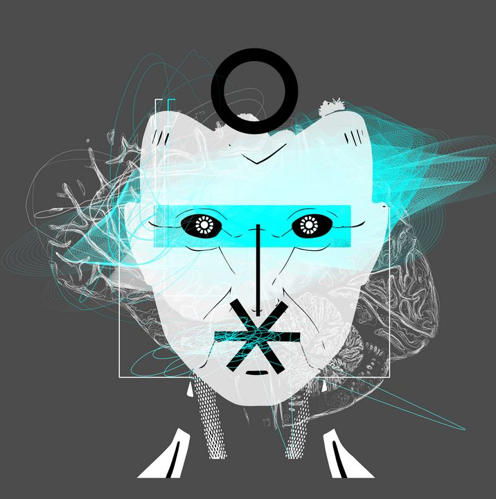 1 - blak GREY-dark-MACHINE-ROBO-face - ART-DESIGN