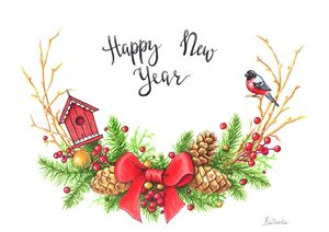 Happy New Year poster/post card