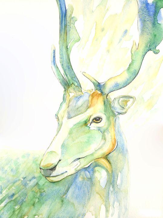 Green Deer - NopoArt