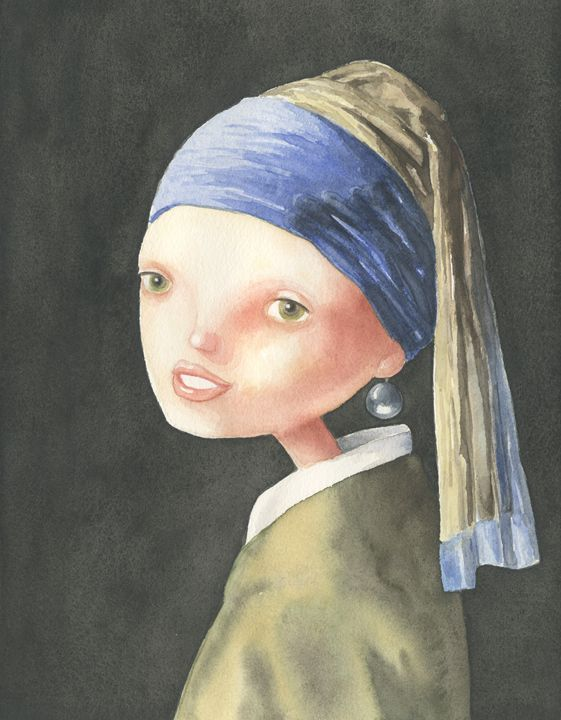 Girl with a Pearl Earring - NopoArt