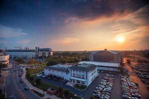 Sunset over Ohio State University