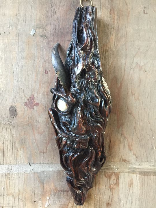 """""""Chili"""" carved pitchknot from cedar - Evolution Engraving Studios"""