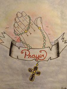 Original Prayer hands - Let's Get It, Recovery Art