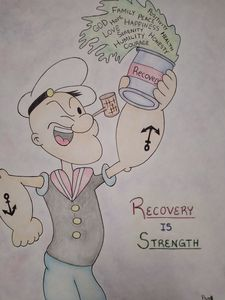 Original Recovery Popeye - Let's Get It, Recovery Art
