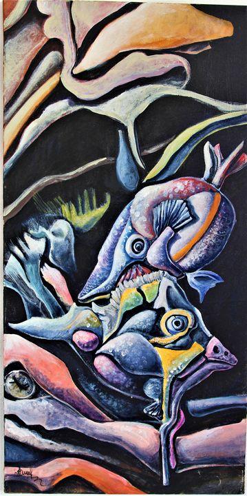 fishes - Anna Stoyanova-Spontaneart