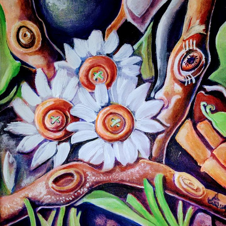 Flowers - Anna Stoyanova-Spontaneart